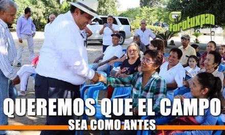 Queremos que el campo sea como antes: Toño Aguilar