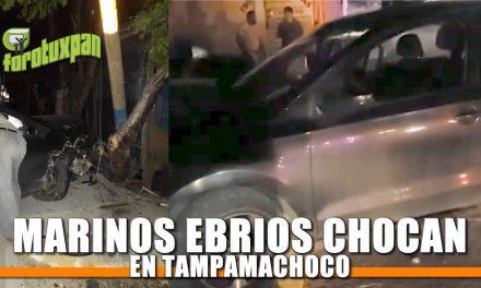 Marinos Ebrios chocan en Tampamachoco