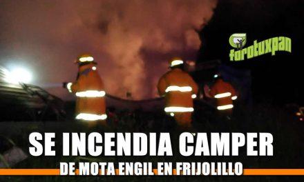 SE INCENDIA CAMPER DE MOTA ENGIL