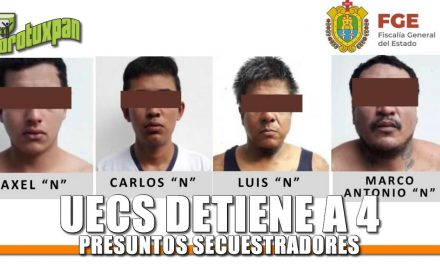 UECS Detiene a 4 presuntos Secuestradores