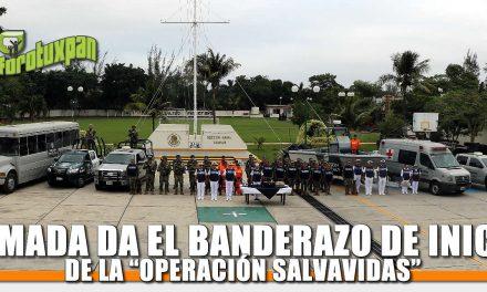 """ARMADA DE MÉXICO DA BANDERAZO DE INICIO DE LA """"OPERACIÓN SALVAVIDAS, INVIERNO 2019"""""""