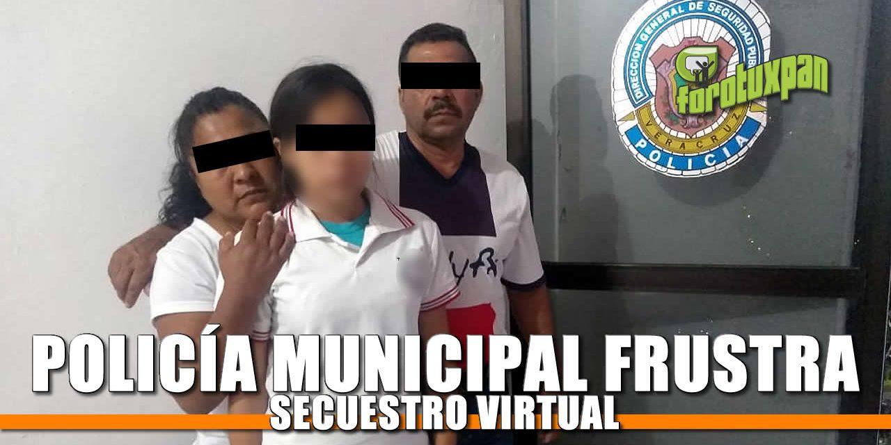 Policía Municipal FRUSTRA Secuestro Virtual
