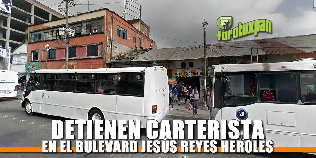 Detienen CARTERISTA en el Bulevard reyes heroles