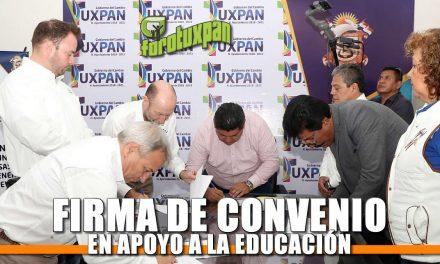 Firma de convenio en apoyo a la educación
