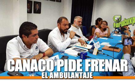 CANACO PIDE FRENAR AL AMBULANTAJE