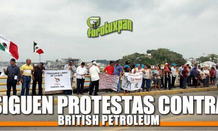 Siguen protestas contra British Petroleum