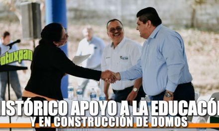 Histórico apoyo a la educación y en construcción de domos