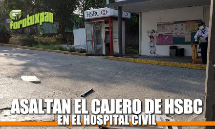 ASALTAN EL CAJERO DE HSBC EN EL HOSPITAL CIVIL