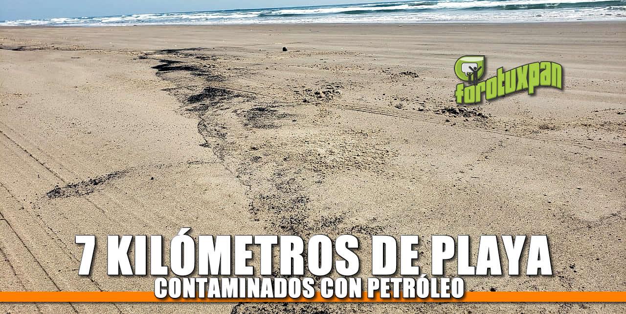 7 Kilómetros de Playa contaminados con petróleo