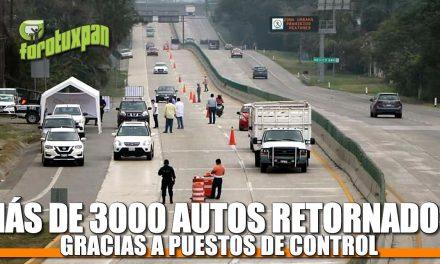 Más de 3 mil autos retornados, gracias a puestos de control