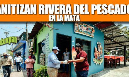SANITIZAN RIVERA DEL PESCADOR EN LA MATA