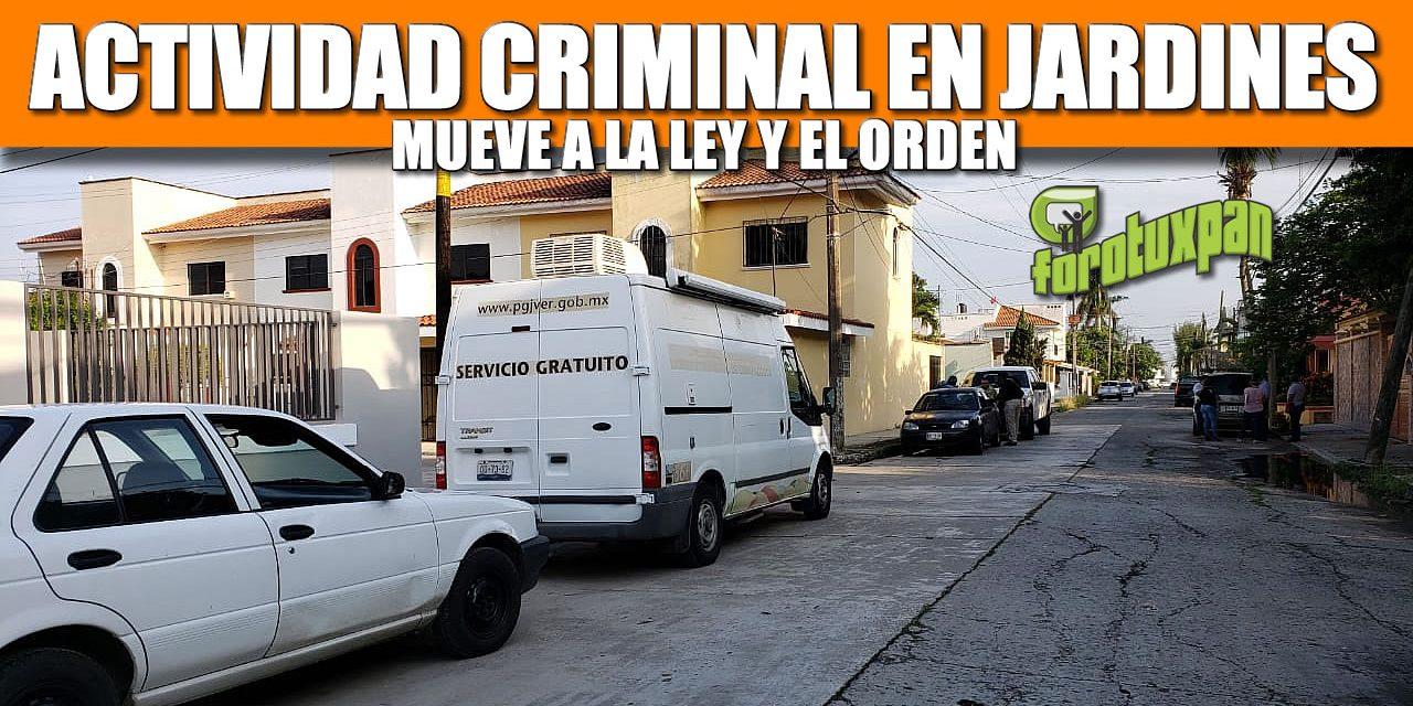 Actividad Criminal en Jardines mueve a la Ley y el Orden