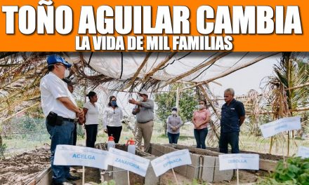 TOÑO AGUILAR LE CAMBIA LA VIDA A MIL FAMILIAS
