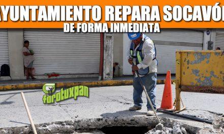 AYUNTAMIENTO REPARA SOCAVÓN DE FORMA INMEDIATA