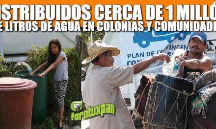 Distribuidos cerca de un millón de litros de agua en colonias y comunidades