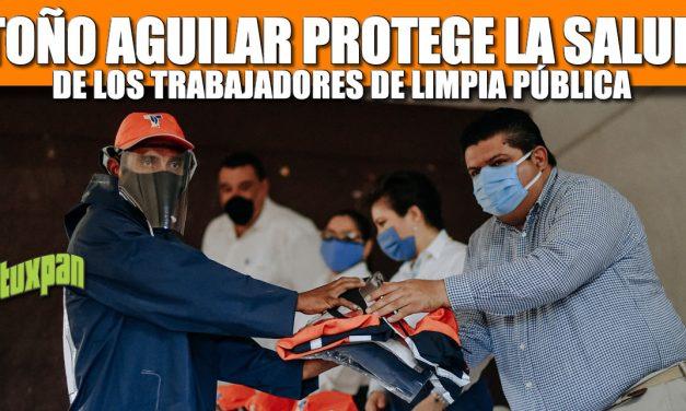 TOÑO AGUILAR  PROTEGE LA SALUD DE LOS TRABAJADORES DE LIMPIA PÚBLICA