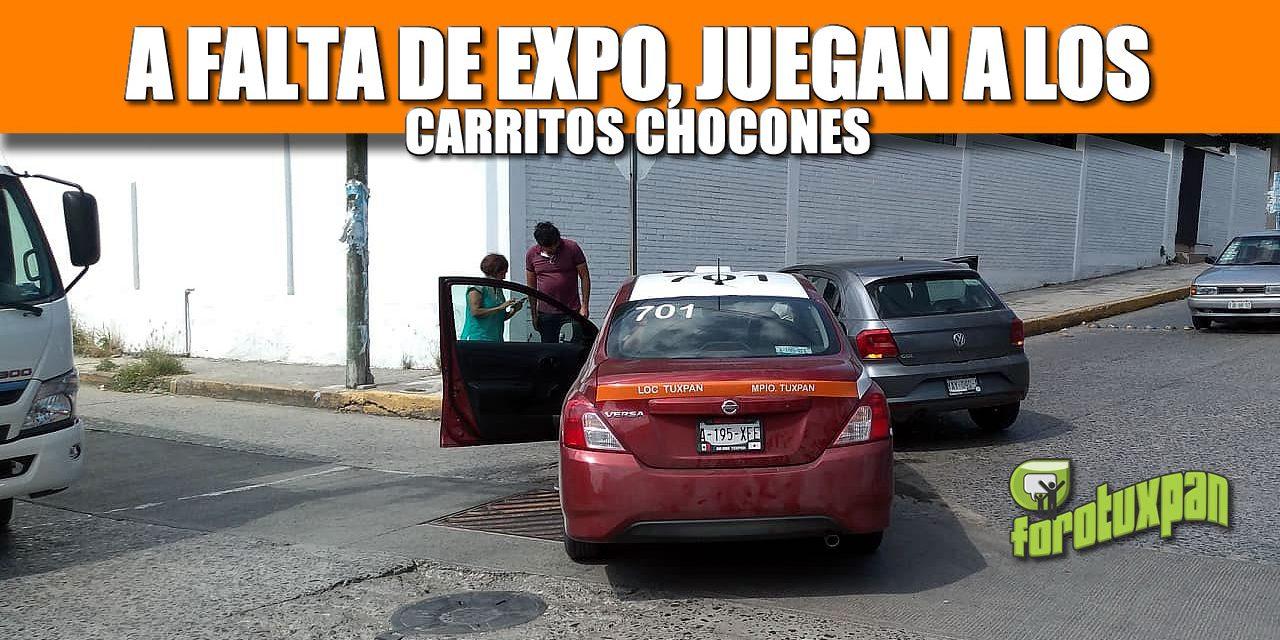 A FALTA DE EXPO, JUEGAN A LOS CARROS CHOCONES