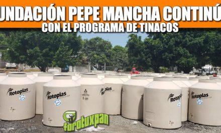 Fundación Pepe Mancha continúa con el programa de Tinacos