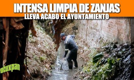 INTENSA LIMPIA DE ZANJAS LLEVA A CABO EL AYUNTAMIENTO DE TUXPAN