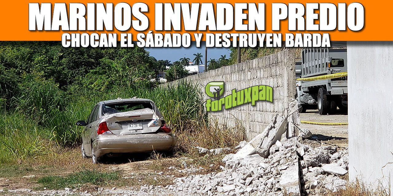 MARINOS INVADEN PREDIO, CHOCAN Y DESTRUYEN BARDA