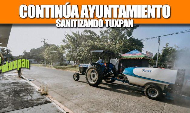 Continúa Ayuntamiento Sanitizando Tuxpan
