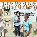 En Tuxpan el agua sigue escaseando; Montse Ortega entrega más tinacos