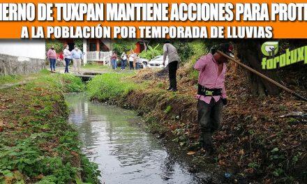 GOBIERNO DE TUXPAN MANTIENE ACCIONES PARA PROTEGER A LA POBLACIÓN POR TEMPORADA DE LLUVIAS