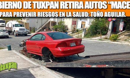 "GOBIERNO DE TUXPAN RETIRA AUTOS ""MACETA"" PARA PREVENIR RIESGOS EN LA SALUD: TOÑO AGUILAR"