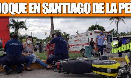 Choque en Santiago de la Peña