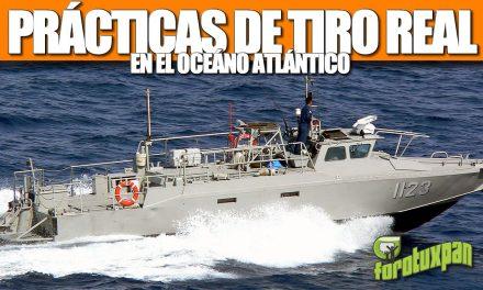 Prácticas de TIRO REAL en el OCÉANO Atlántico