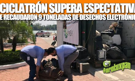 RECICLATRÓN SUPERA EXPECTATIVAS; SE RECABARON 9 TONELADAS DE DESECHOS ELECTRÓNICOS