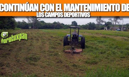 CONTINÚA EL MANTENIMIENTO DE LOS CAMPOS DEPORTIVOS