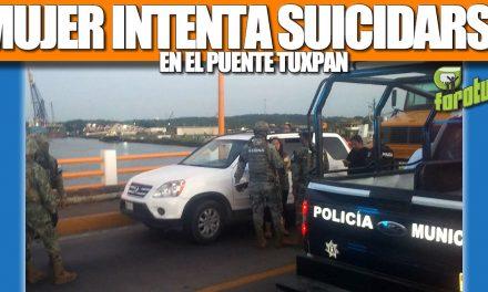 MUJER INTENTA SUICIDARSE EN EL PUENTE TUXPAN
