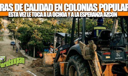 EL GOBIERNO DE TUXPAN CAMBIARÁ LA VIDA DE VECINOS DE LA OCHOA Y ESPERANZA AZCÓN CON OBRAS DE CALIDAD