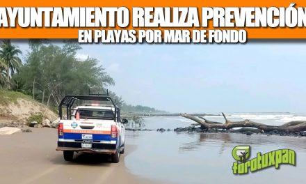 """GOBIERNO DE TUXPAN REALIZA ACCIONES DE PREVENCIÓN EN ZONA DE PLAYAS POR """"MAR DE FONDO"""""""