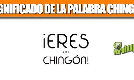 SIGNIFICADO DE LA PALABRA CHINGÓN