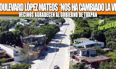"""EL BOULEVARD LÓPEZ MATEOS """"NOS HA CAMBIADO LA VIDA"""": VECINOS AGRADECEN AL GOBIERNO DE TUXPAN"""