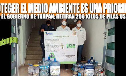 PROTEGER EL MEDIO AMBIENTE ES UNA PRIORIDAD PARA EL GOBIERNO DE TUXPAN; RETIRAN 200 KILOS DE PILAS USADAS
