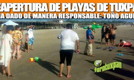REAPERTURA DE PLAYAS DE TUXPAN SE HA DADO DE MANERA RESPONSABLE: TOÑO AGUILAR