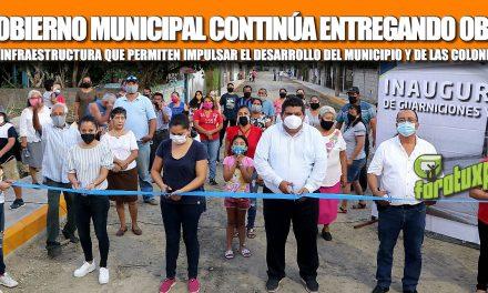 EL GOBIERNO MUNICIPAL CONTINÚA ENTREGANDO OBRAS DE INFRAESTRUCTURA QUE PERMITEN IMPULSAR EL DESARROLLO DEL MUNICIPIO Y DE LAS COLONIAS