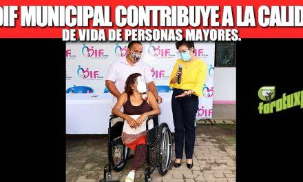 EL DIF MUNICIPAL CONTRIBUYE A LA CALIDAD DE VIDA DE PERSONAS MAYORES.