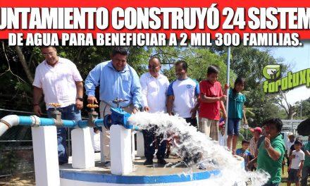 GOBIERNO DE TUXPAN CONSTRUYÓ 24 SISTEMAS DE AGUA PARA BENEFICIAR A 2 MIL 300 FAMILIAS, VA POR MÁS.