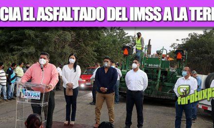 INICIA EL ASFALTADO DEL IMSS A LA TERMO