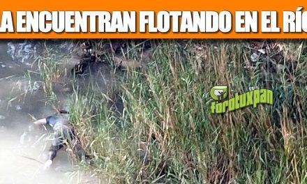 La encuentran flotando en el Río