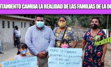 GOBIERNO DE TUXPAN ESTÁ CAMBIANDO LA REALIDAD DE MUCHAS FAMILIAS DE LA HERNÁNDEZ OCHOA