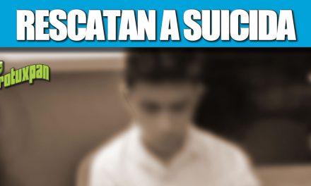 RESCATAN A SUICIDA EN EL PUENTE TUXPAN