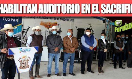 REHABILITAN AUDITORIO EN EL SACRIFICIO