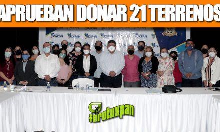 APRUEBAN DONAR 21 TERRENOS