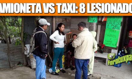 CAMIONETA VS TAXI: 8 LESIONADOS