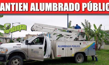 MANTENER EN BUEN ESTADO EL ALUMBRADO PÚBLICO ES PRIORIDAD DEL GOBIERNO DE TUXPAN